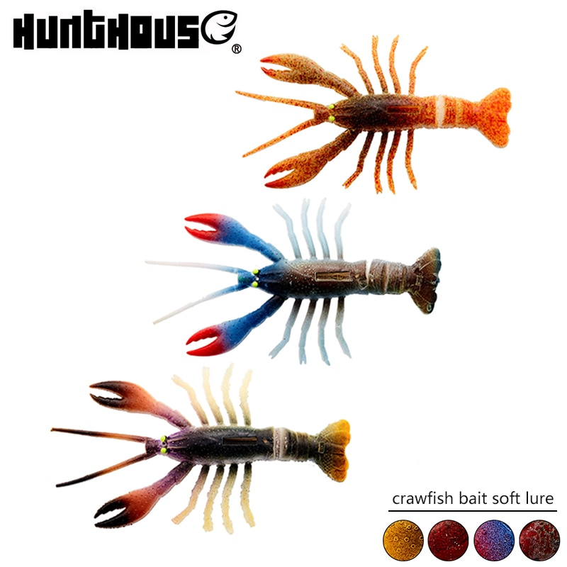 Hunthouse cebo de cangrejo suave señuelo de material de PVC de 15,4g 11,5 cm realista modelo de color de roca río pesca señuelo de plástico suave