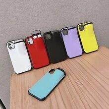 Nouvelle Mode Écouteur Boîte De Rangement étui de téléphone portable pour IPhone11 11Pro Max 6 7P 8plus XR XSMAX Housse De Protection Avec AirPods Cas