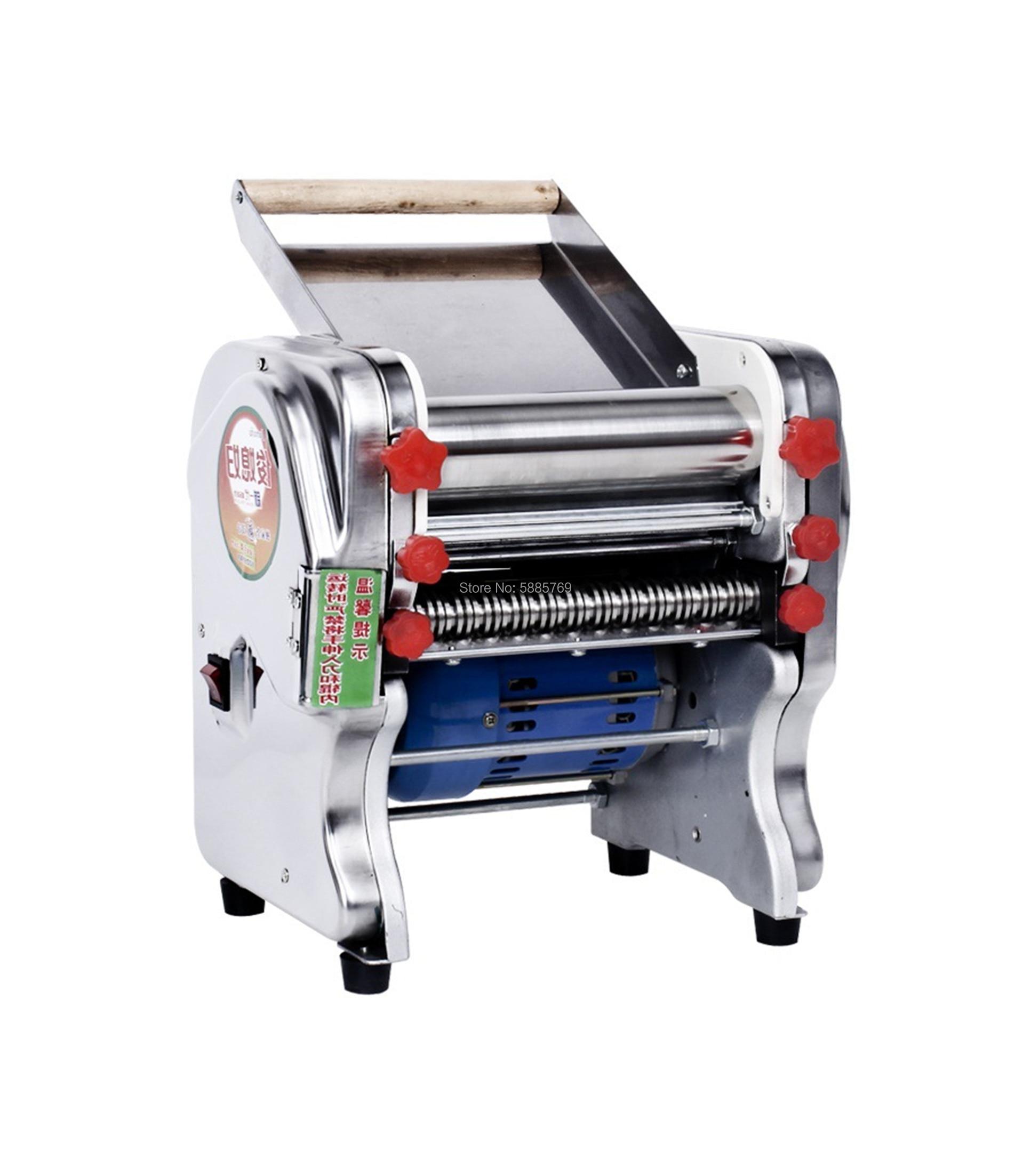 Máquina de prensado de pasta eléctrica de acero inoxidable para el hogar, máquina comercial de corte de fideos eléctricos