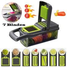 7 In1 Gemüse Cutter Lebensmittel Salat Obst Schäler Cutter Slicer Dicer Chopper Küche 2019 Neue