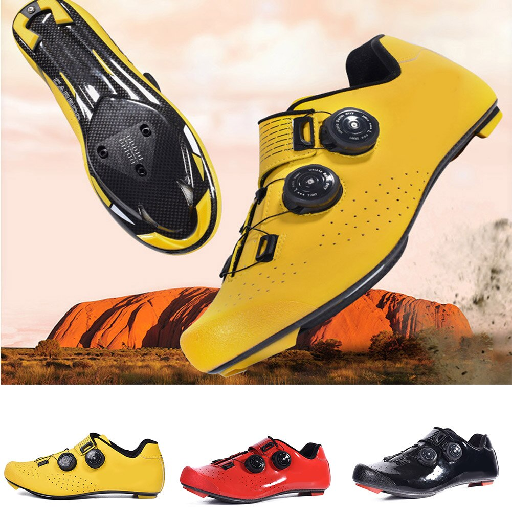 Zapatos de bicicleta de carretera de encaje rápido, zapatos de bicicleta de fibra de carbono con bloqueo, calzado antideslizante resistente al desgaste ALS88