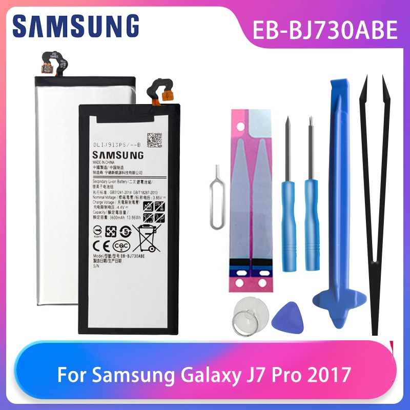 samsung original battery eb bj730abe for samsung galaxy j7 pro j730fj730k j730g j730gm sm j730f sm j730ds sm j730fm 3600mah Orginal Samsung Galaxy J7 Pro 2017 SM-J730 SM-J730FM J730F/G J730DS J730GM J730K Phone Battery EB-BJ730ABE 3600mAh Free Tools