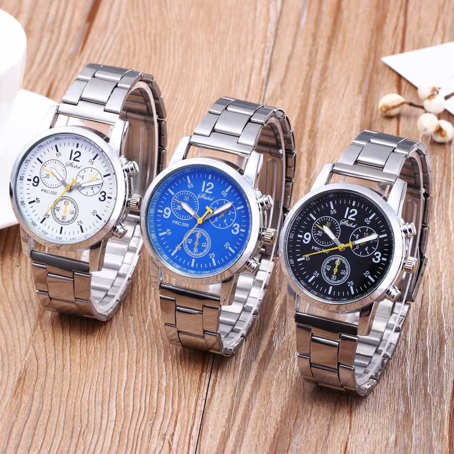 Men Fashion Sport Watches Fashion Band Watch Neutral Quartz Analog Wristwatch Steel Band Watch Quart
