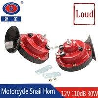 YUANSHENG 12V 110dB 30W Waterproof Auto Speaker Motorcycle Snail Horn Car Electronic Horn