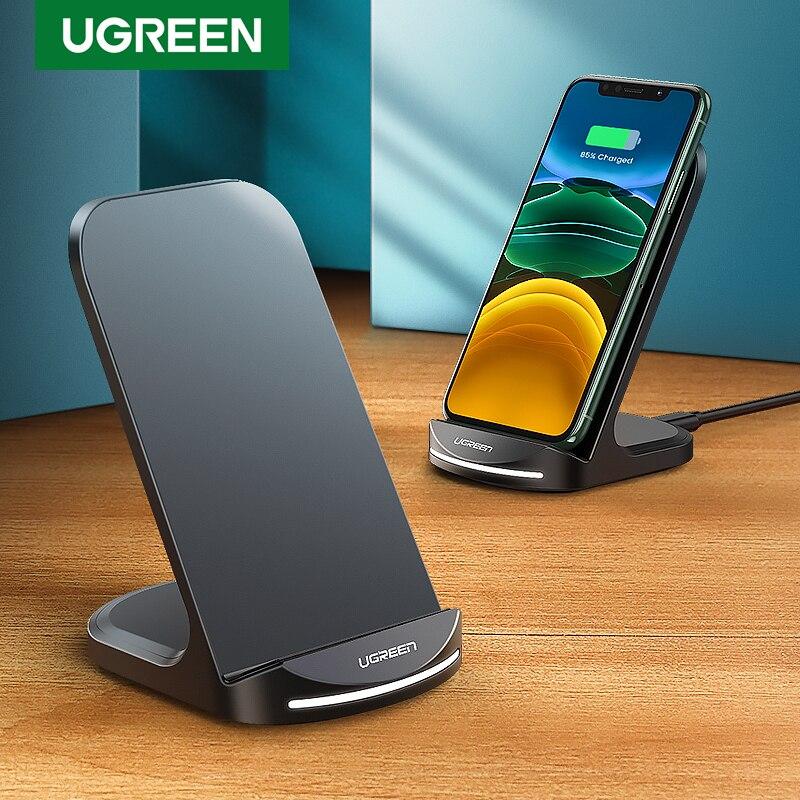 Беспроводное зарядное устройство Ugreen Qi для iPhone 12 Pro X XS 8 XR Samsung S9 S10 S8 S10E быстрая Беспроводная зарядная станция для телефона|Беспроводные зарядные устройства|   | АлиЭкспресс