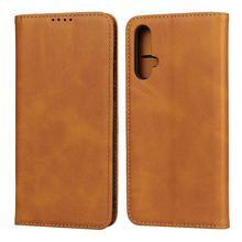 Para huawei nova 5 bezerro couro carteira caso do telefone para huawei nova 5i nova 5i pro nova 4 nova 3 slot para cartão magnético flip capa