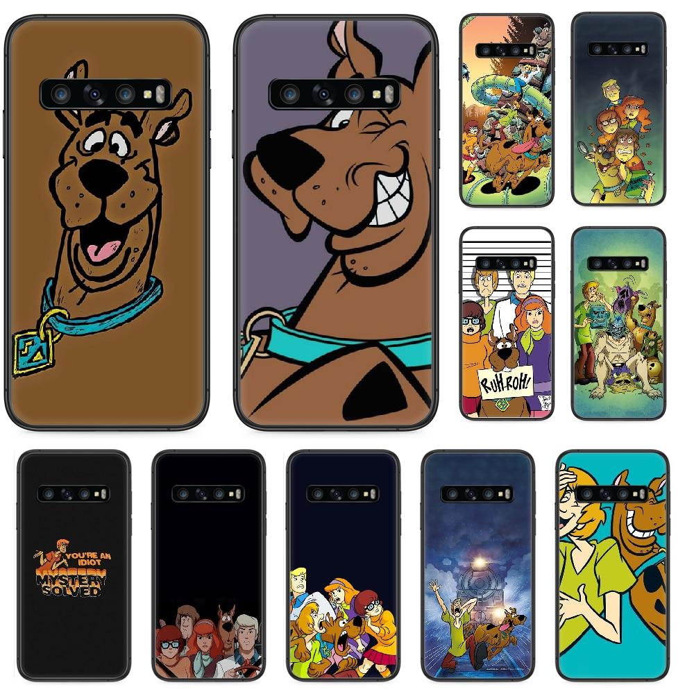 Bonita funda de móvil de dibujos animados scooby Doo para Samsung Galaxy S 10 20 3 4 5 6 7 8 9 Plus E Lite Uitra funda negra pintada Etui