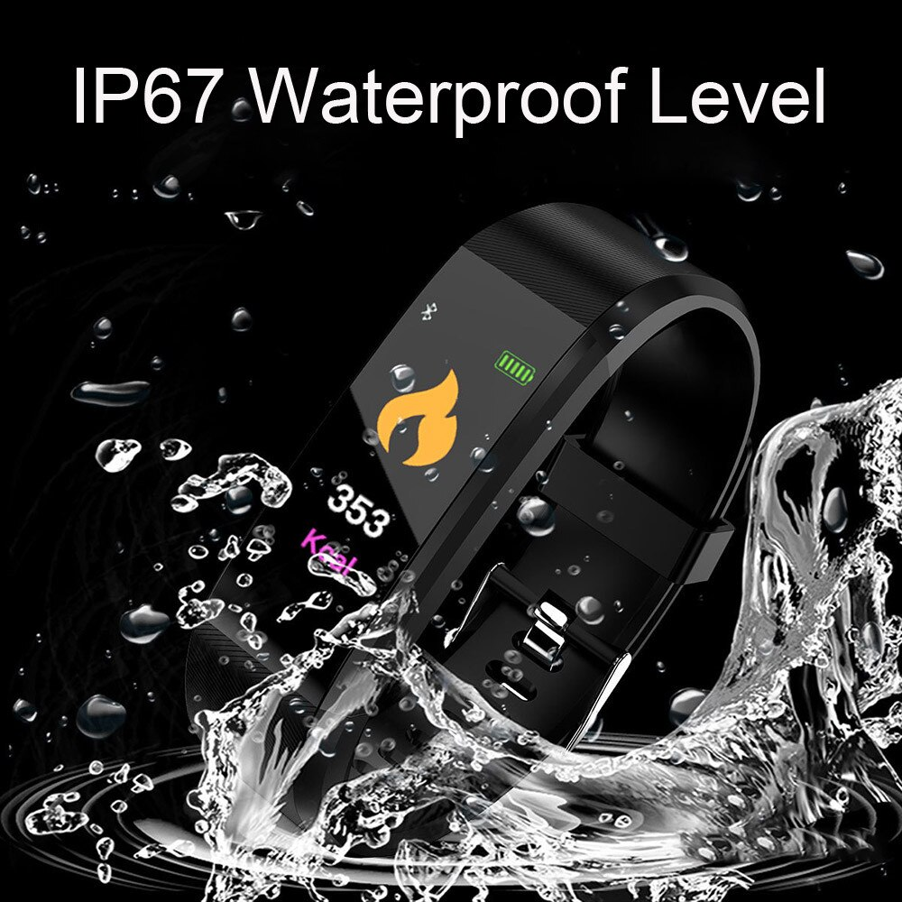 115PLUS Smart Watch Women Sports Smart Bracelet Waterproof Watch Pedometer Heart Rate Monitor LED color screen for Android ios