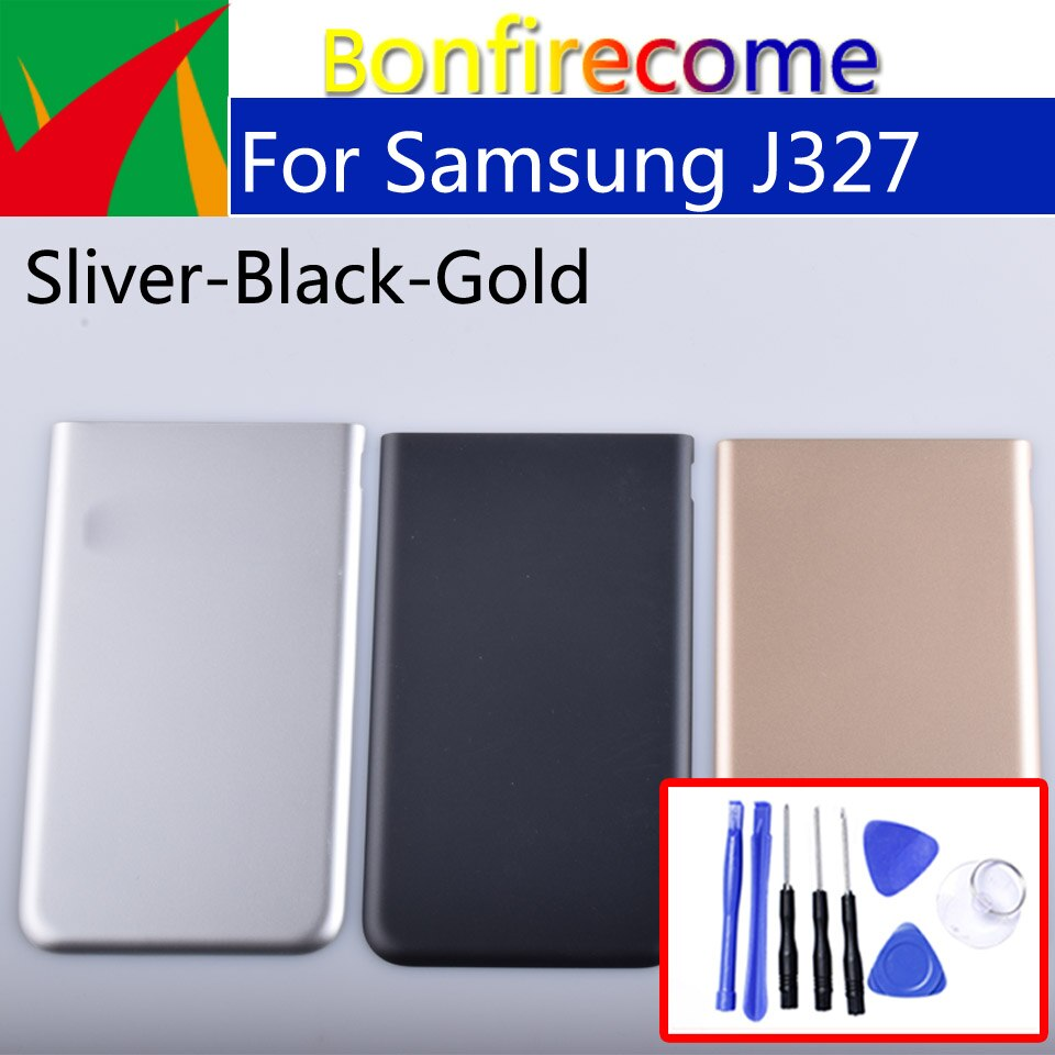 J327 para Samsung Galaxy J3 Prime GT-J327  J3 Emerge J327 SM-J327P J327P carcasa de batería cubierta trasera funda trasera puerta chasis
