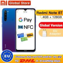 Küresel sürüm Xiaomi Redmi not 8T 4GB 128GB NFC Smartphone 48MP dörtlü arka kamera Snapdragon 665 Octa çekirdek 4000mAh