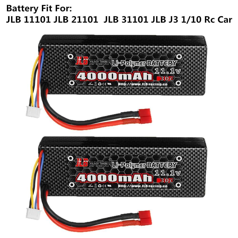 Batería Lipo Original JLB Series RC racing 11,1 V 4000mAh 30C 3S para JLB Series 11101 21101 31101 J3 1/10 Rc, batería de repuesto para coche