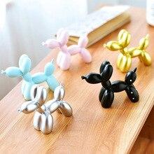 Leuke Kleine Ballon Hond Bakken Cake Decoratie Jeugd Party Dessert Desktop Decor Sculptuur Geschenken Hars Ambachten 5 Kleuren