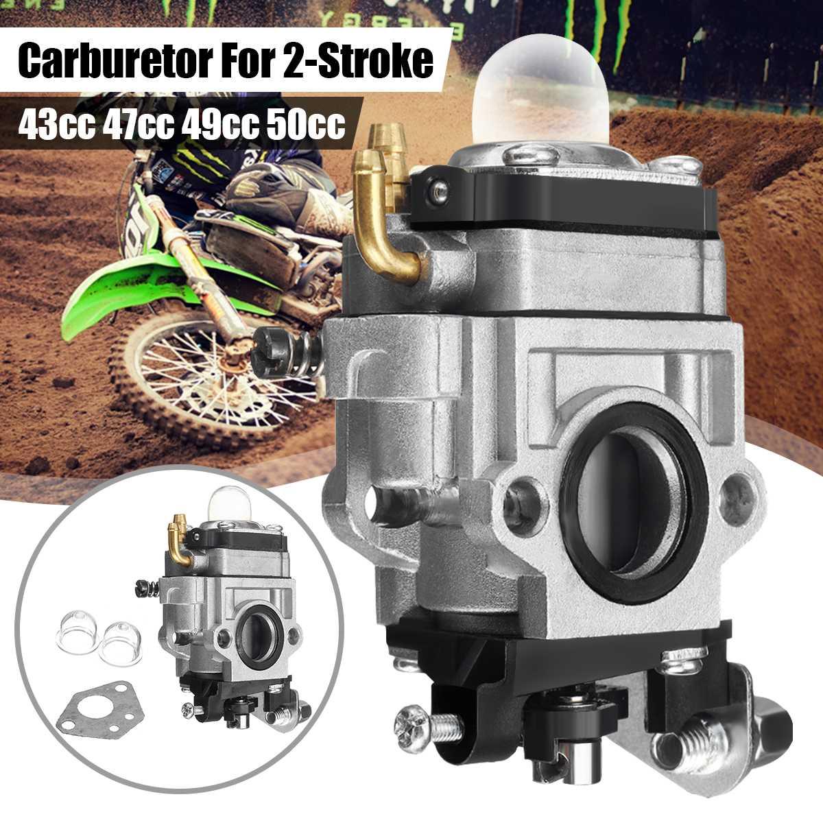 Carburador carb para 43cc 47cc 49cc 50cc 2 tempos scooter brushcutter bolso bicicleta da sujeira