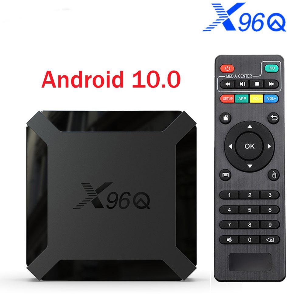 النسخة العالمية صندوق التلفزيون أندرويد 10.0 X96Q Allwinner H313 رباعية النواة 4K الذكية أندرويد TV 2.4G واي فاي X96 Q مجموعة صندوق فوقي dvb t2 أندرويد