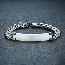 TB1 homme Bracelet couleur argent/couleur or noir acier inoxydable Bracelet & Bracelet homme accessoire Hip Hop fête Rock