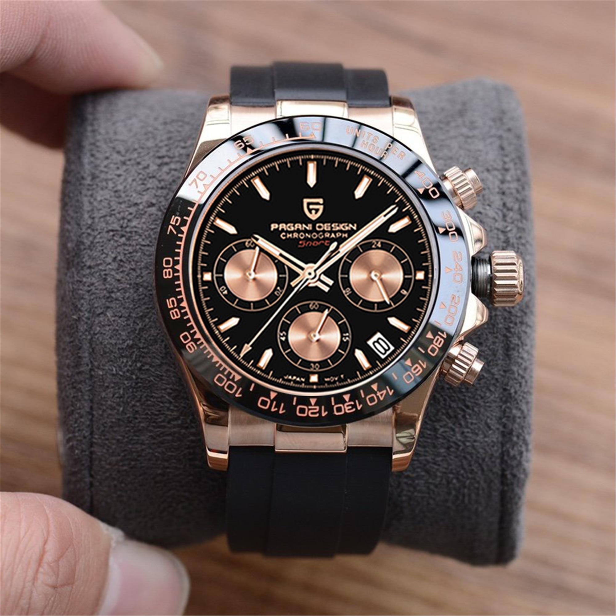 2021 New PAGANI Design Men Quartz Watches Japan VK63 Clock Automatic Date Men Luxury Chronograph Wri