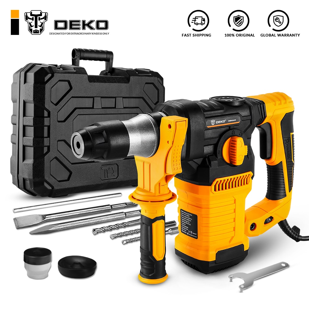 DEKO DKRH32LD5 230V Multifunctional Rotary Hammer with BMC and Accessories Electric Demolition Hammer Impact Drill