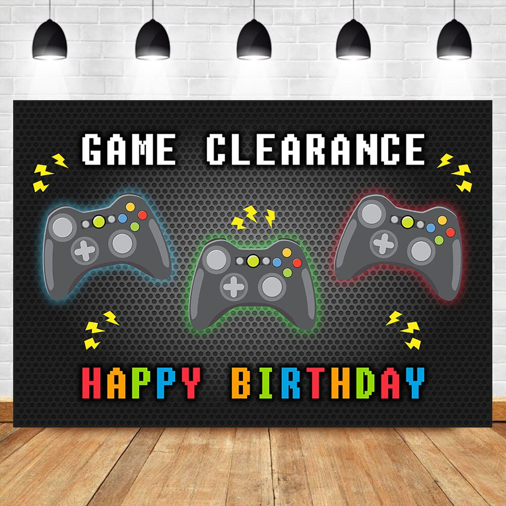 NeoBack máquina de juego de feliz cumpleaños fotografía telones juego de chico es banderines para fiesta de cumpleaños Decoración Accesorios de fondo