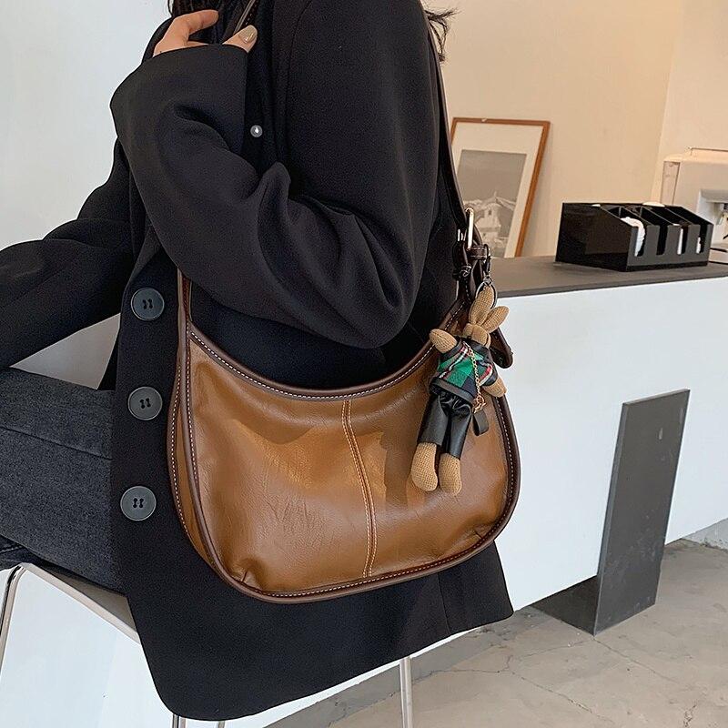 Marca de Designer Bolsa das Axilas para Mulheres do Vintage Couro do Plutônio Nova Moda Ombro Único Alta Qualidade Crossbody Bolinhos Bolsa 2021