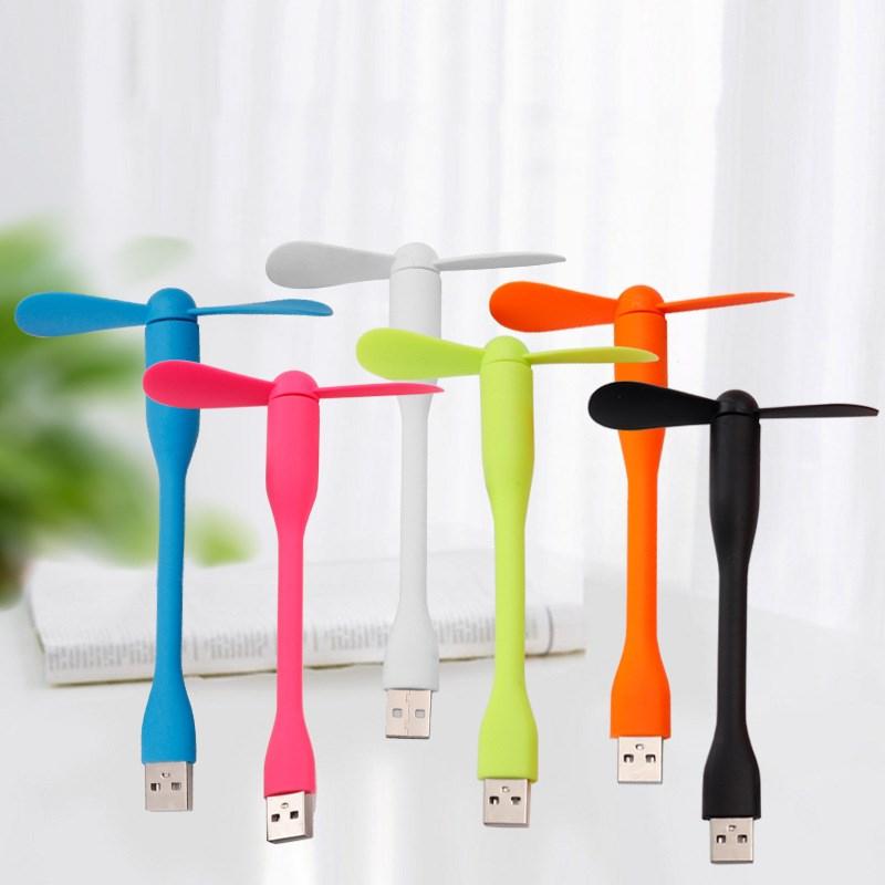 1 unidad Mini ventilador USB portátil Micro ventiladores Gadget Flexible de verano para tableta Power Bank portátiles pequeños regalos para personas en fiestas