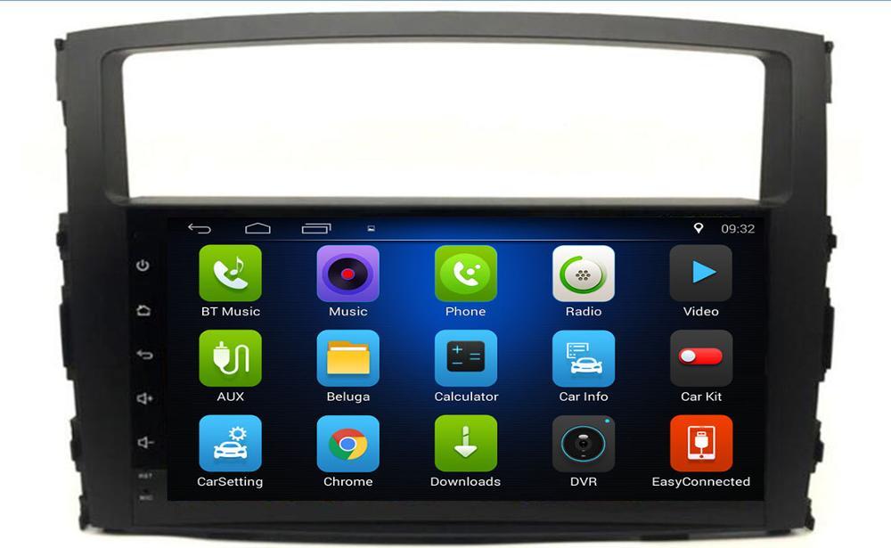 Lecteur multimédia 4G Android 10 pour MITSUBISHI PAJERO V97 2006 2007 2008 2009 2010 2011 2din radio stéréo Navigation GPS