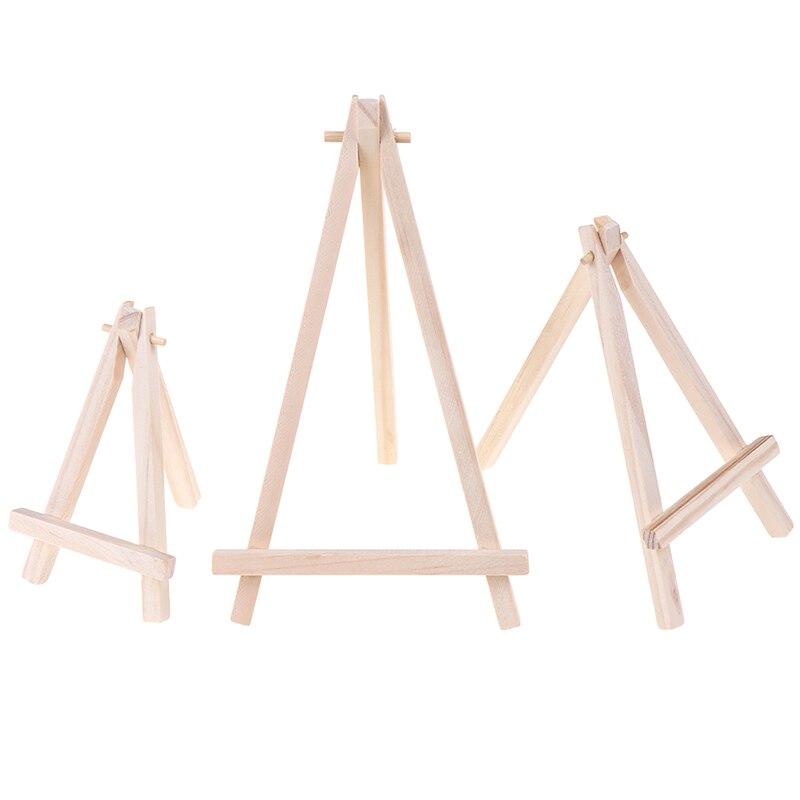 3 tamaños de decoración de escritorio Mini madera artista trípode pintura caballete para foto pintura postal titular de la exhibición marco