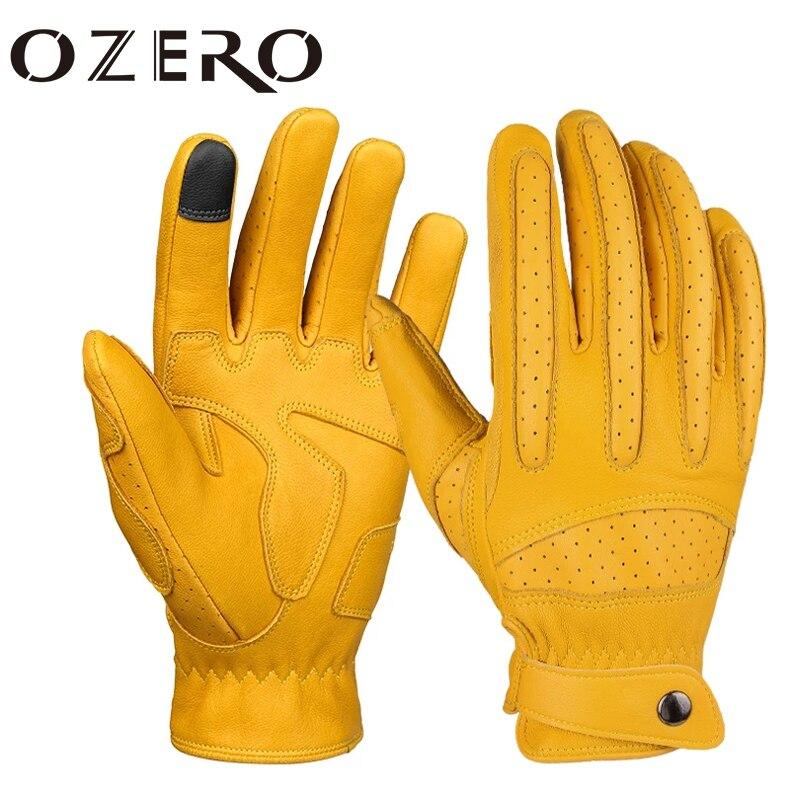 [해외] OZERO-남성용 오토바이 장갑, 터치스크린 라이딩 레이싱 장갑, 전체 손가락, 통기성 좋음, 미끄럼 방지 오토바이 모토크로스 글러브