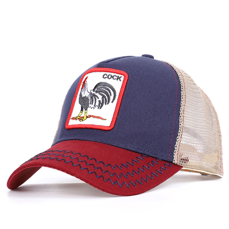 Animal embroidery mesh cap BUTCH NUTS cotton dad hat BUCKFEVER BEAR baseball cap Snapback Unisex Tru