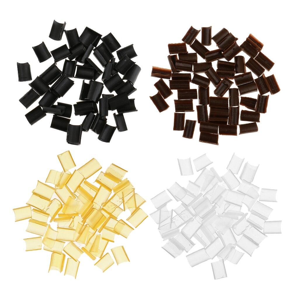 Lote de 200 extensiones de cabello, Punta U, queratina granulada, pegamento de fusión en caliente Rebond, 4 colores