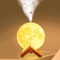Diffuseur darome ultrasonique  humidificateur dair  lampe pleine lune  veilleuse  purificateur de brume froide pour le bureau et la maison