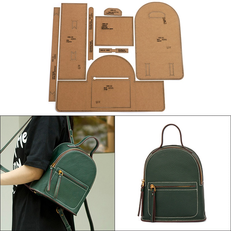 Ladies Backpack Casual Mini School Bag Edition Drawing DIY Handmade Leather Tool Kraft Paper Template Mold Sewing Tool