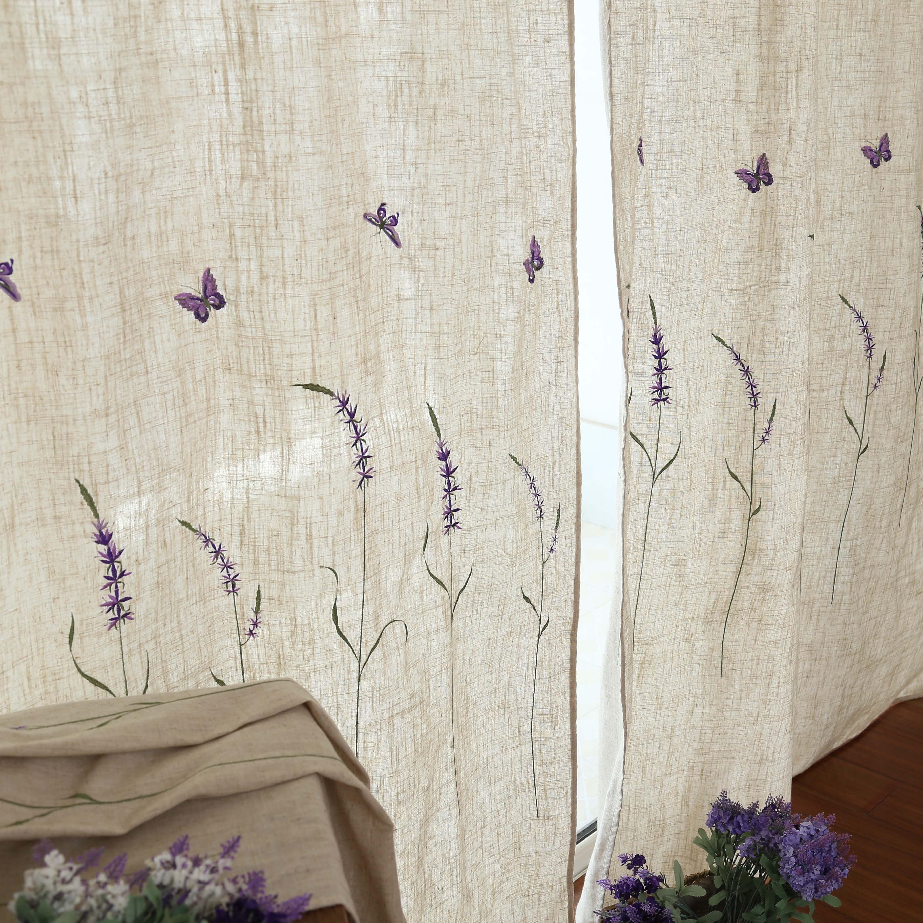 Cortinas de lino idílico de Cortinas para sala de estar dormitorio cortina...
