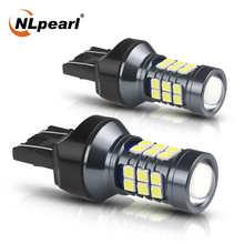 NLpearl 2x T20 LED 7440 WY21W W21W Led Bulbs 7443 W21/5W Led T20 Super Bright 3030SMD Backup Reversing Light for Car Signal Lamp