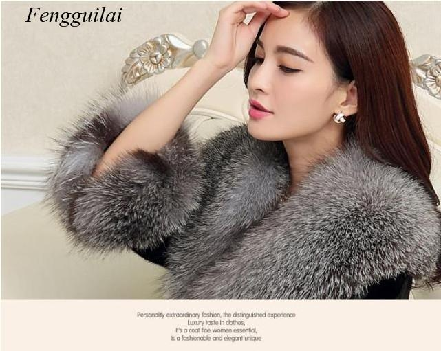 Autumn and Winter New Mink Fur Long Fake Fur Coat Two Colors for Womenw enlarge