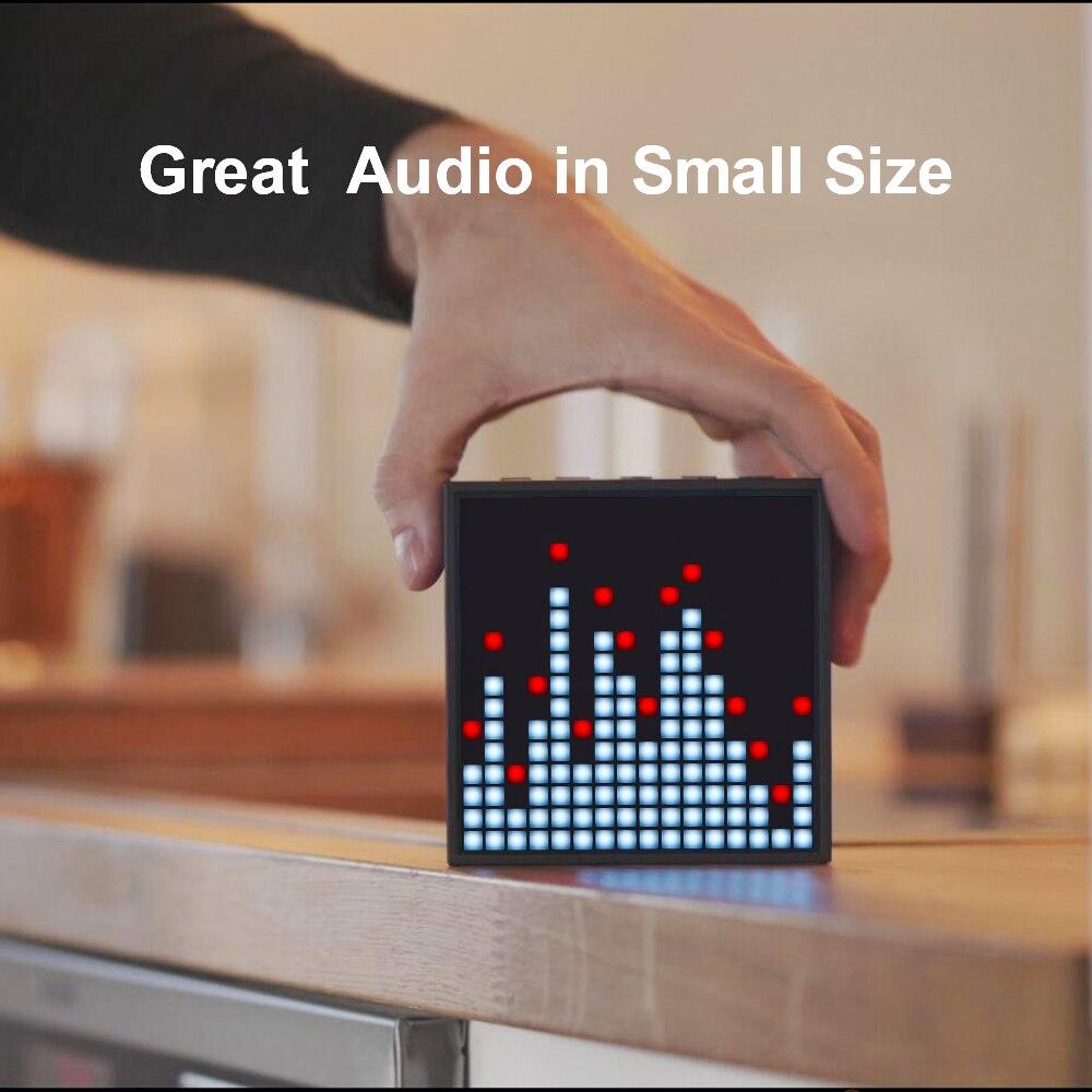 Altavoz portátil Bluetooth resistente al agua con pantalla LED programable para alarma de reloj, se puede usar para la creación de imagen de píxel