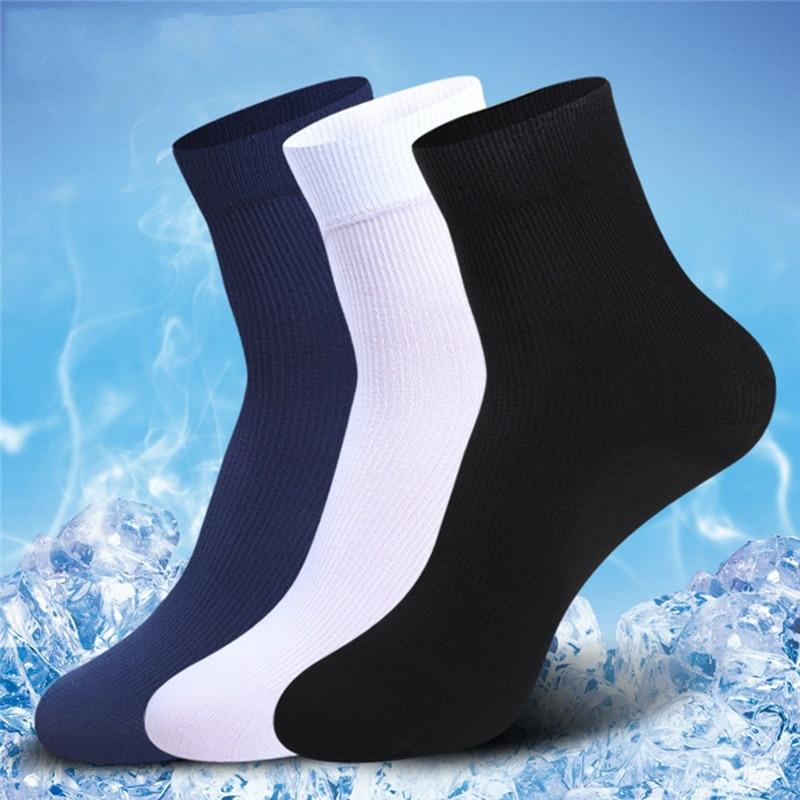 10 pares/lote homens meias de alta qualidade respirável compressão meias longas negócios casual masculino grande sox tubo sólido