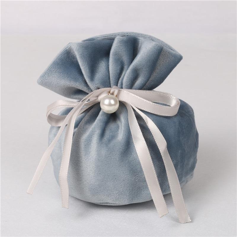 Bolsas de terciopelo con tela de perlas bolsas de hadas bolsas para caramelos de boda Favor regalo fiesta Favor dulces bolsas