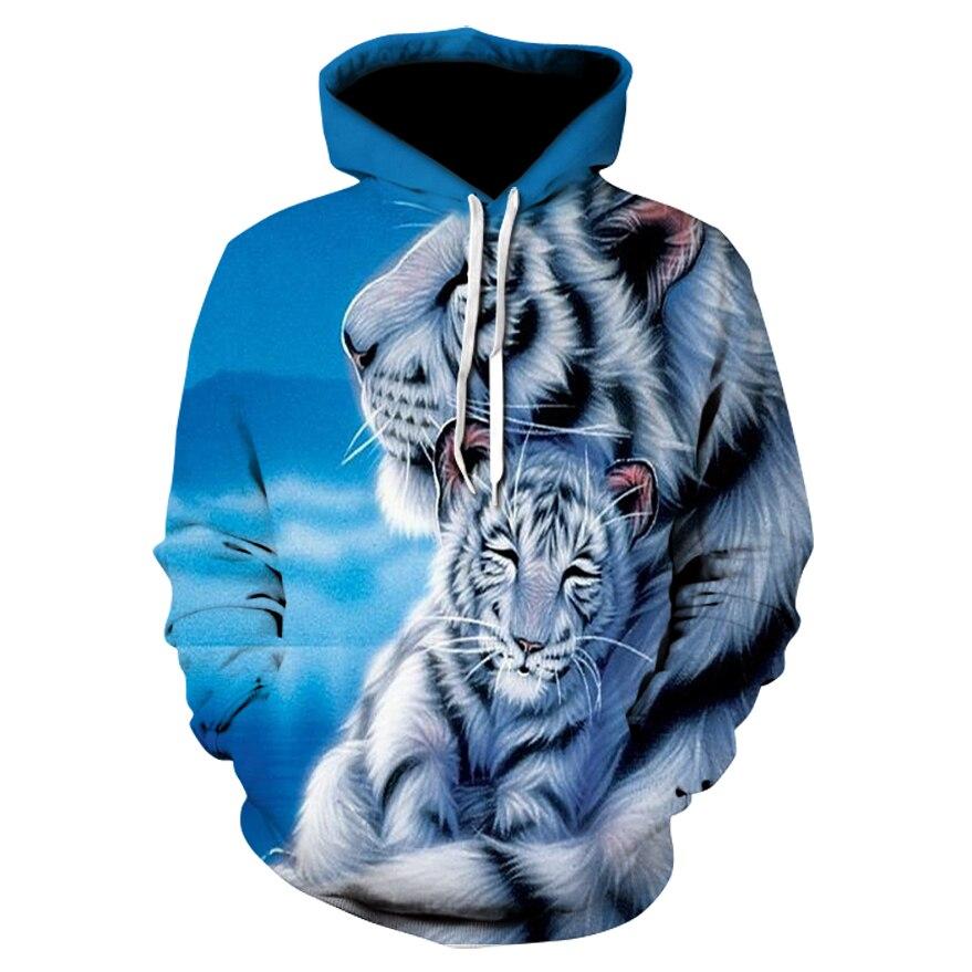Fashion Men's Hoodie Autumn New Animal Tiger Print Hoodie 3d Lion Head Pullover Sweatshirt 2020 Brand Fashion Sportswear Jacket