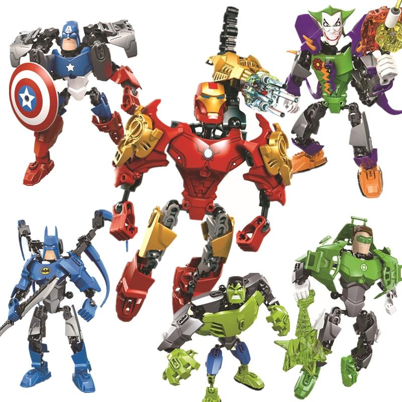 Superhéroe serie Iron Man Tony Stark armadura Marvel bloques de construcción película DC modelo niños KITS de juguetes compatibles