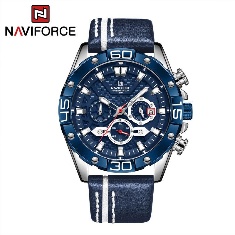 NAVIFORCE Top Brand Luxury Watch Stainless Steel Quartz Chronograph Clock Fasion Business Simplicity Luxury Relogio Masculino