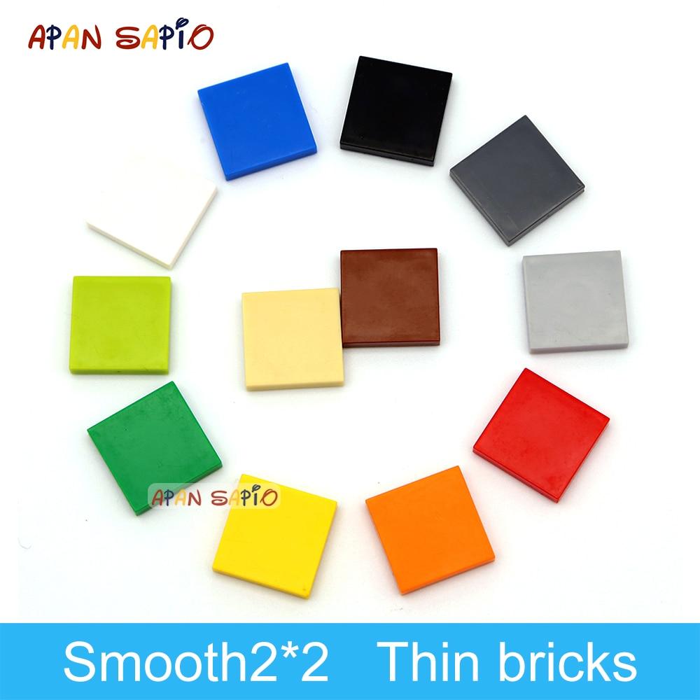 Конструктор «сделай сам» 200 шт., фигурки, кирпичи, керамическая плитка 2x2, развивающие креативные размеры, совместимые с игрушками 3068 для дет...