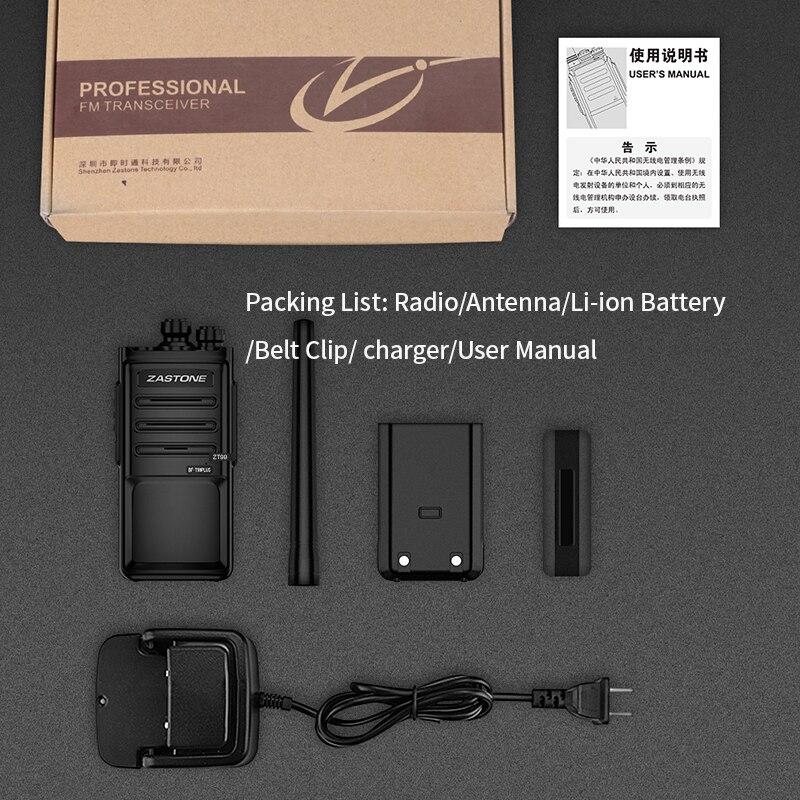 ZASTONE ZT99 uhf talkie walkie 5W Radio ham Handheld Two way Radio mini walkie talkie portable radio transceiver enlarge