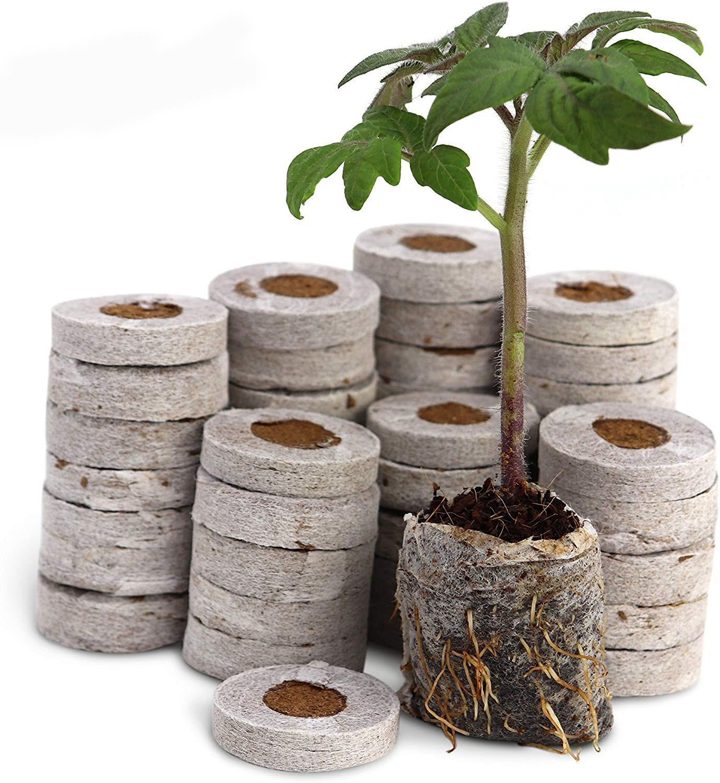 Pellets de turba Jiffy de 30mm para sembrar el suelo en macetas de vivero, tapones de arranque de semillas, herramientas para el jardín profesional