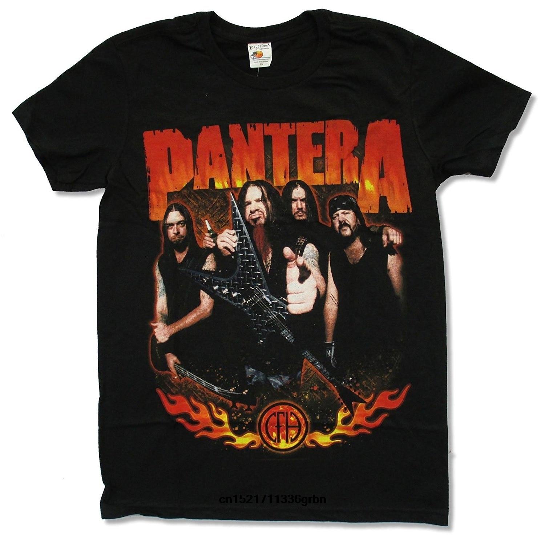 Camiseta de hombre Pantera Flames Negro camiseta novedad camiseta Mujer