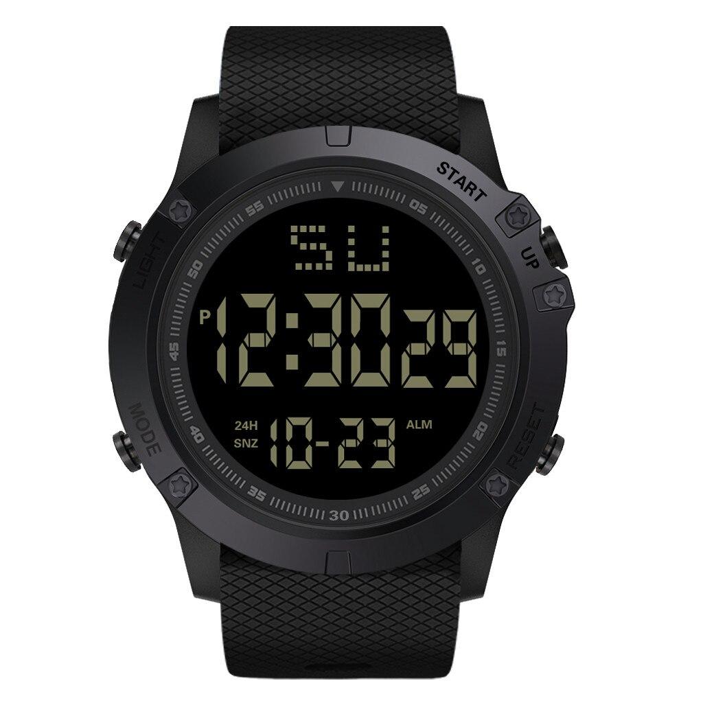 Honhx luxo moda led digital data militar esporte de borracha relógio quartzo alarme à prova dwaterproof água orologio elettronico sportivo
