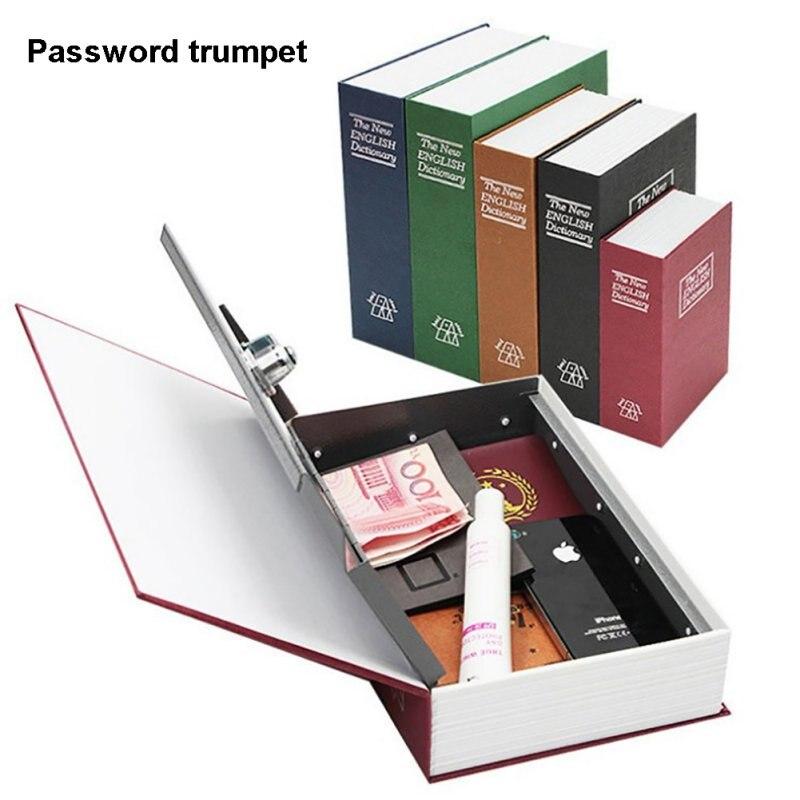 Dicionário segredo seguro escondido bwith chave de bloqueio portátil caixas de segurança de viagem