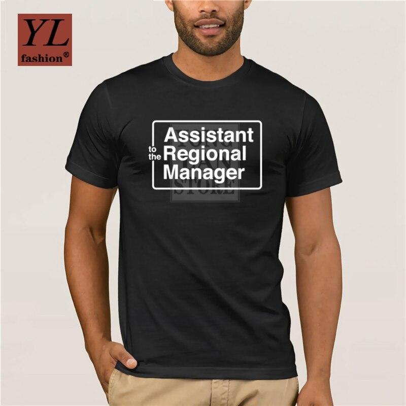 2020 nueva moda de moda camiseta estampada para hombre 100% algodón La Oficina camiseta asistente del gerente Regional camiseta pieza