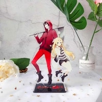 classic anime killing angel%c2%a0acrylic figure model keychains fashion desk decorated stand sign keyring gift for woman man