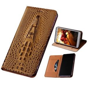 3D Crocodile Genuine Leather Magnetic Phone Holster Case For Nokia 6.7/Nokia 6.3/Nokia 5.4/Nokia 3.4/Nokia 2.4 Flip Cover Holder