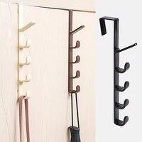 bedroom door hanger clothes hanging rack plastic home storage organization hooks over the door purse holder for bags rails